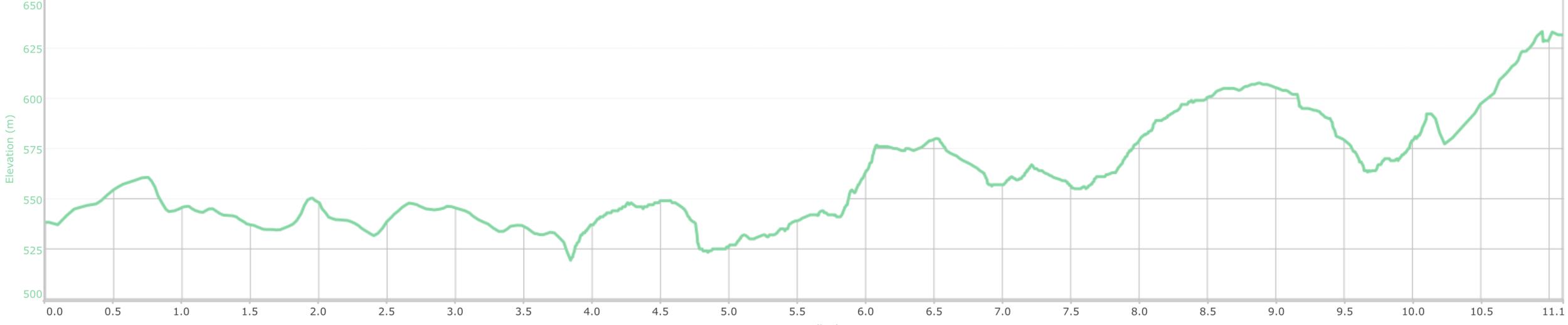 COURSE ELEVATION PROFILE - 13km