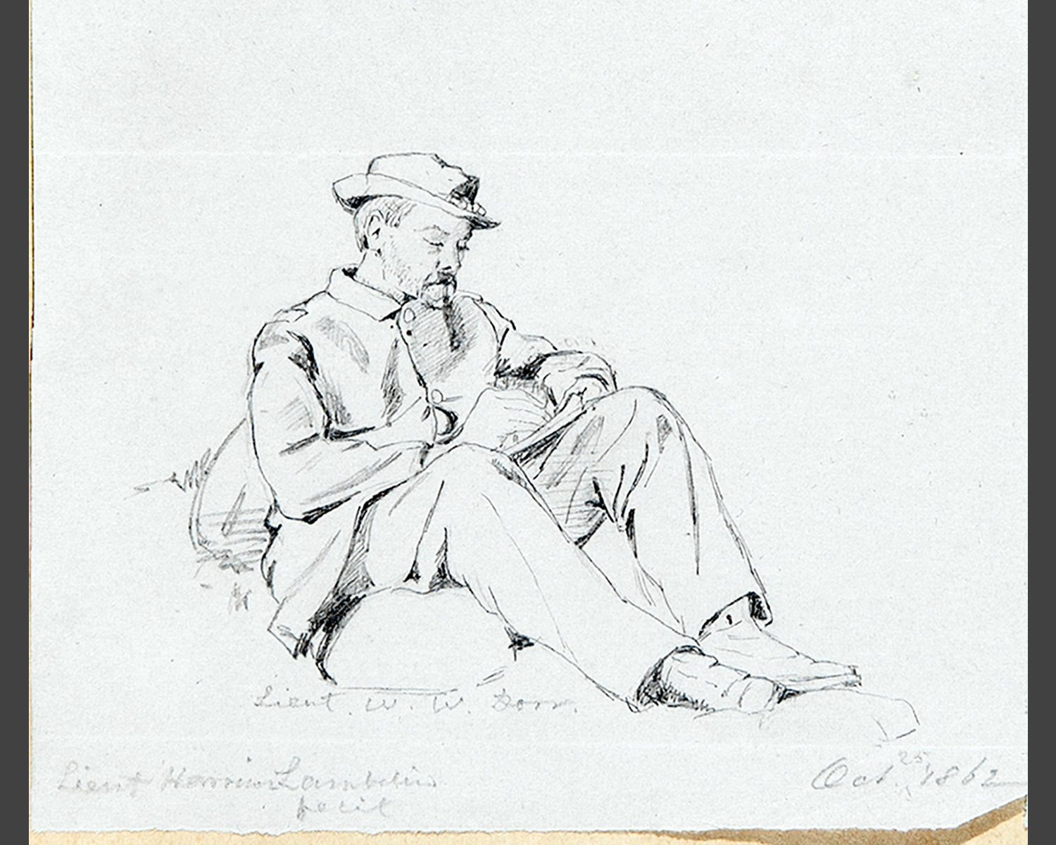 James Harrison Lambdin, sketch of Lt. William White Dorr. Courtesy of the Pescosolido Library Archives, The Governor's Academy. Photo by David Oxton.