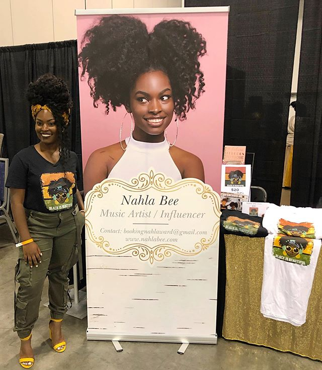 Invest in your BRAND! I had the privilege of hosting the WE BUY BLACK CONVENTION  @webuyblack in ATL with my forever partner @kennyculture! The love we received was truly amazing😍🔥 ___________________________________ #nahlabee #philly #atl #newyork #brooklyn #georgiaconventioncenter #webuyblack #webuyblsckconvention #blackisbeautiful #nahla #singer #music