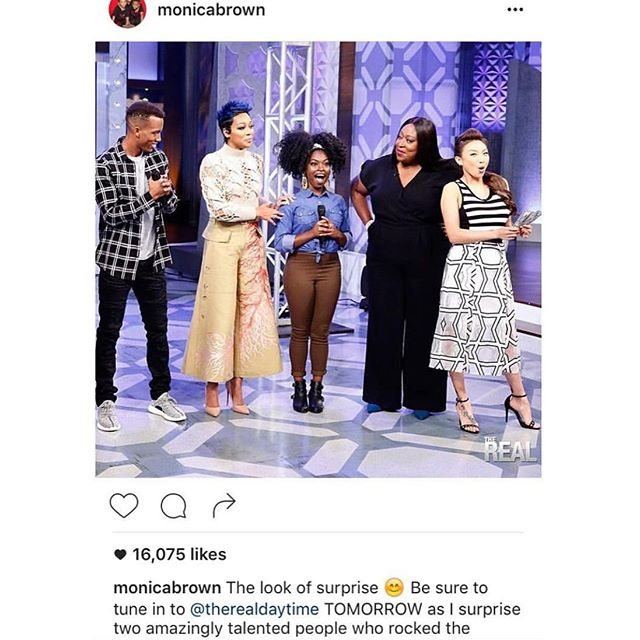 Today, 3 year ago!! My first television appearance, The Real 😍💙! Forever grateful and then some! The marathon continues !! 🎵🎵🎵🎶🎶🎶🎶🎶🎶 ____________________________________  #Sogonechallenge #nahlabee #Singer #musicartist #monica #thereal #fox #bet @monicabrown @therealdaytime
