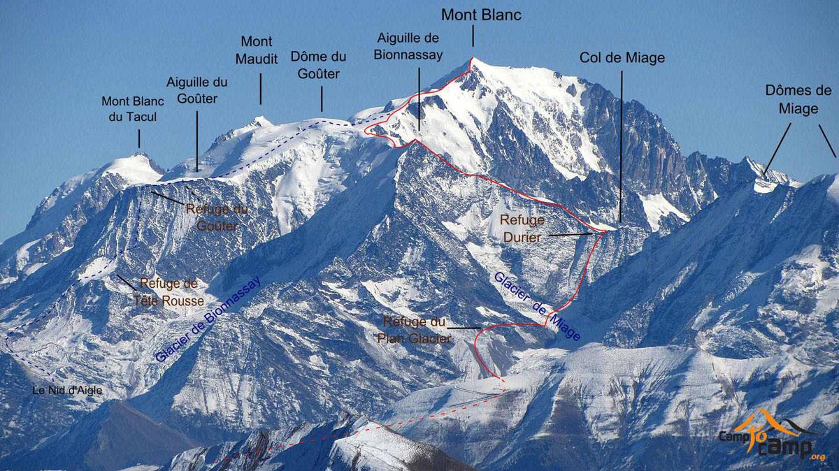 O massiço do Mont Blanc