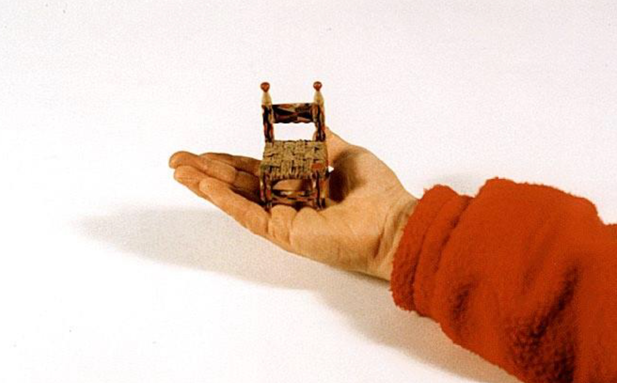 - This tiny toy chair was the inspiration for a collection of over one hundred chair sculptures.