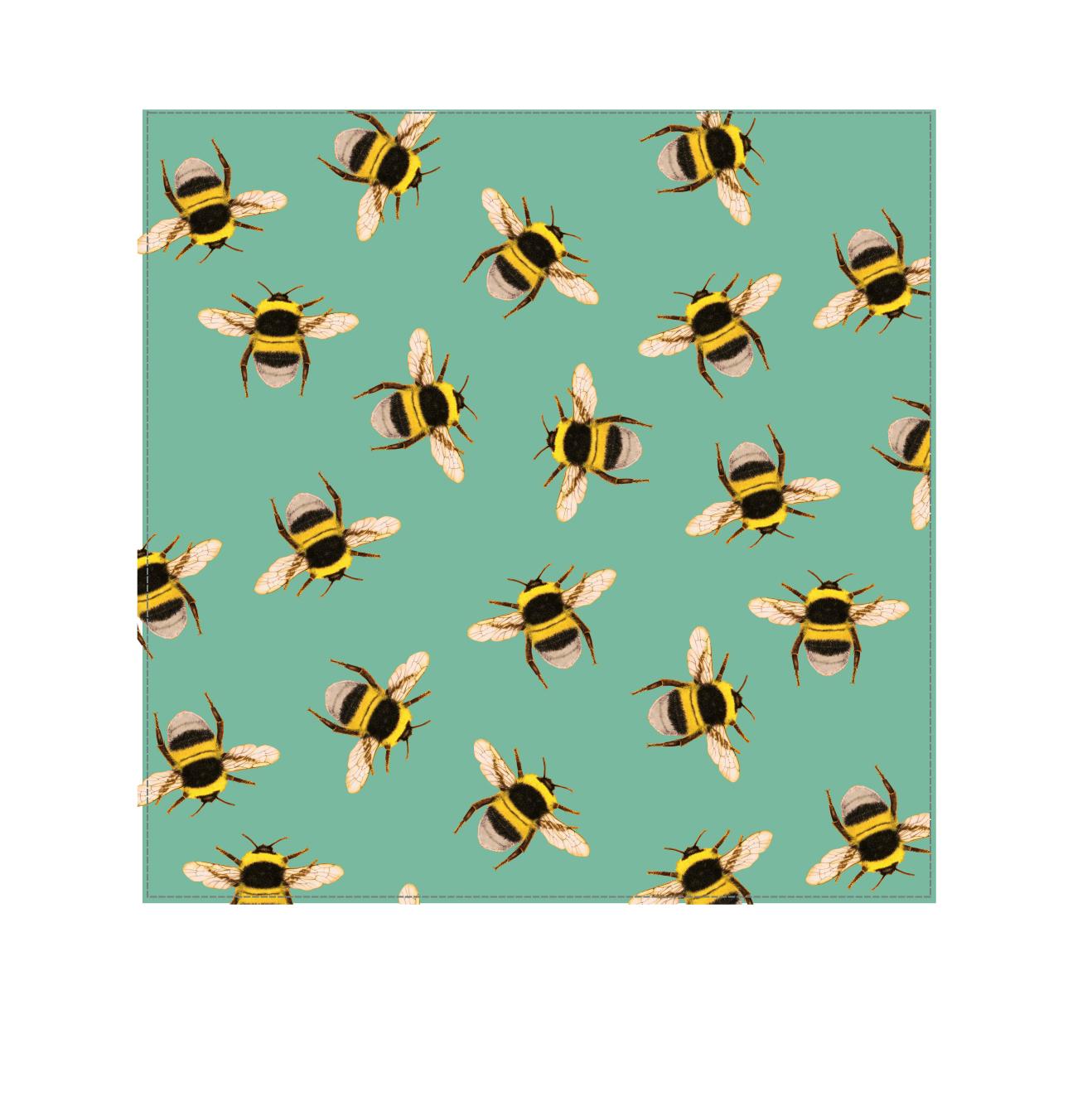 Bee Swarm Turquoise - Velvet