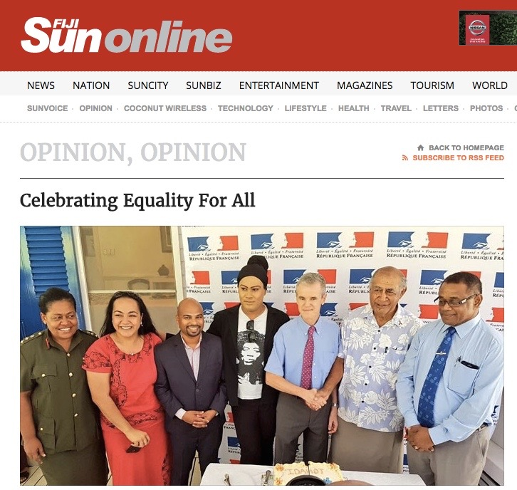 Text of the French Ambassador to Fiji Michel Djokovic's speech during the International Day Against Homophobia and Transphobia (IDAHOT) commemorated at his residence in Suva, Fiji.   Click here to read full text.
