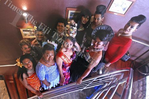 The Miss Senikau contestants at Tanoa Plaza in Suva. Picture: ELIKI NUKUTABU