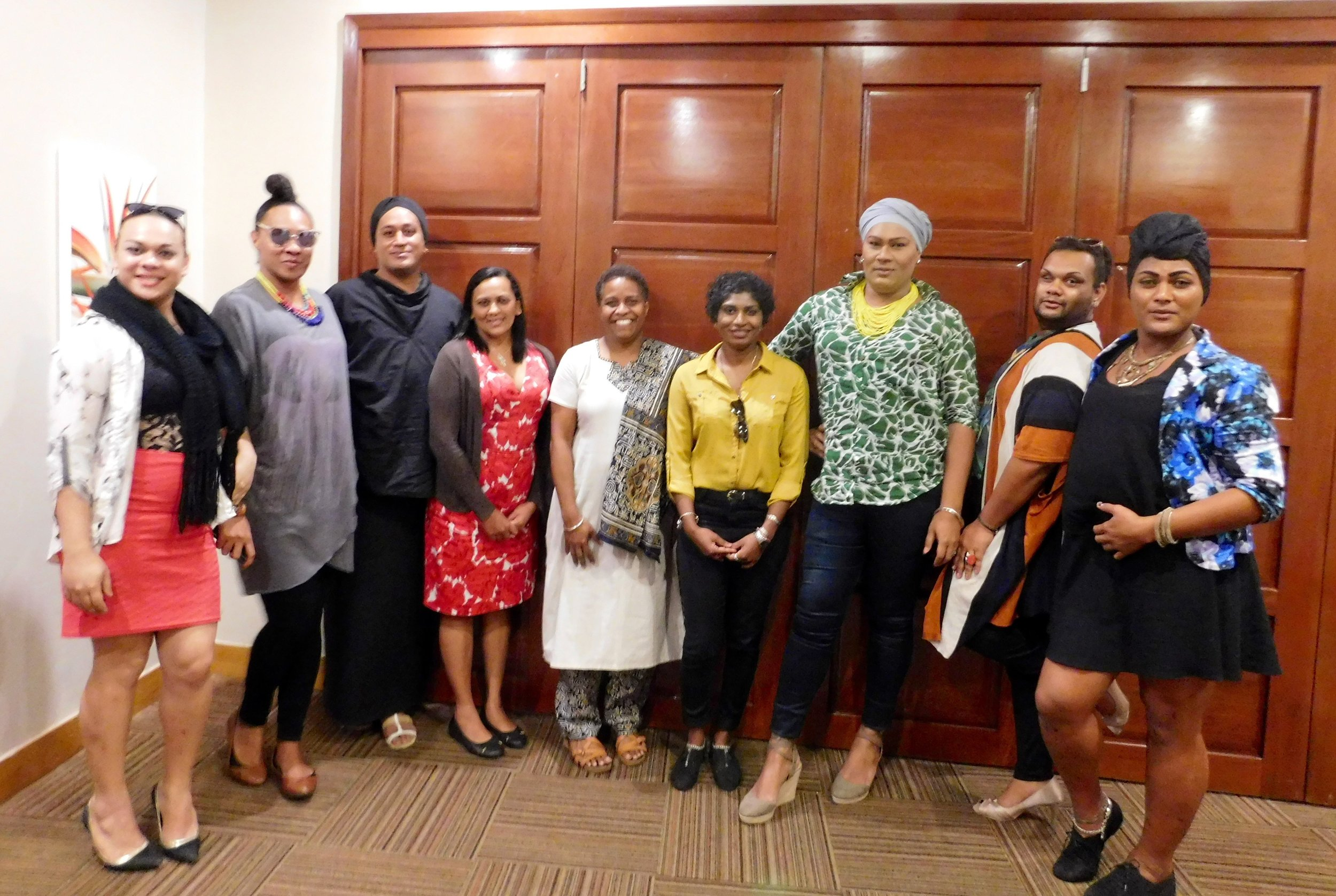 At the Research Design Workshop with UN Women, FWRM, Haus of Khameleon Research Team and the Research Consultant. May 4th 2017.   Click here for photo album.