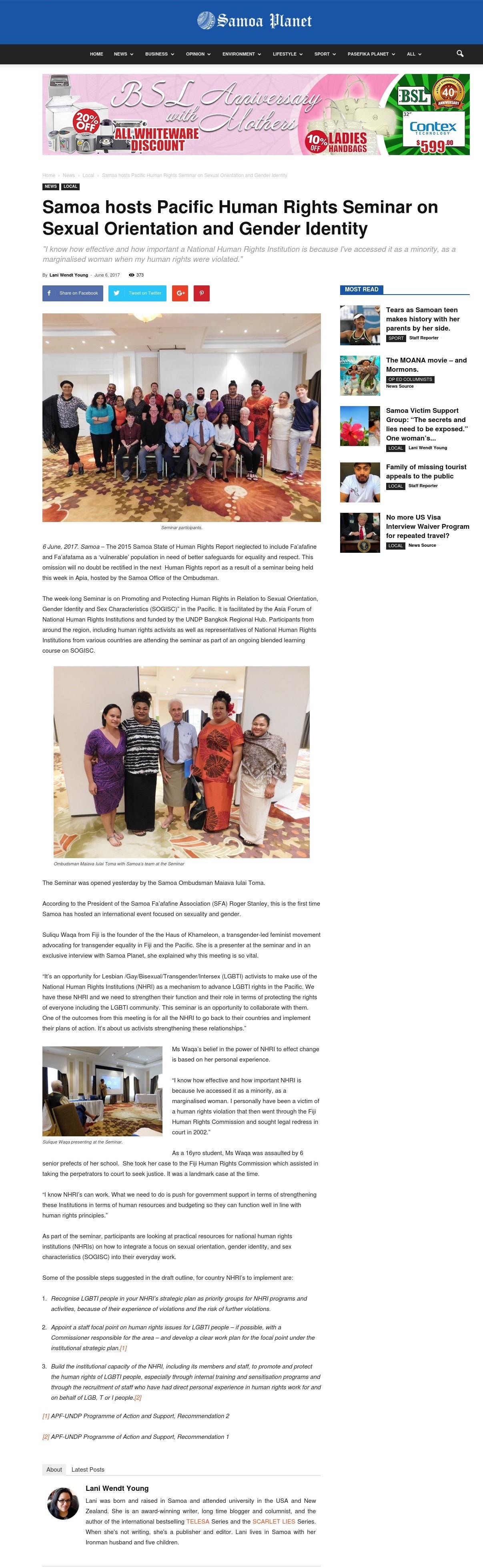 Samoa Planet Online: June 6, 2017.