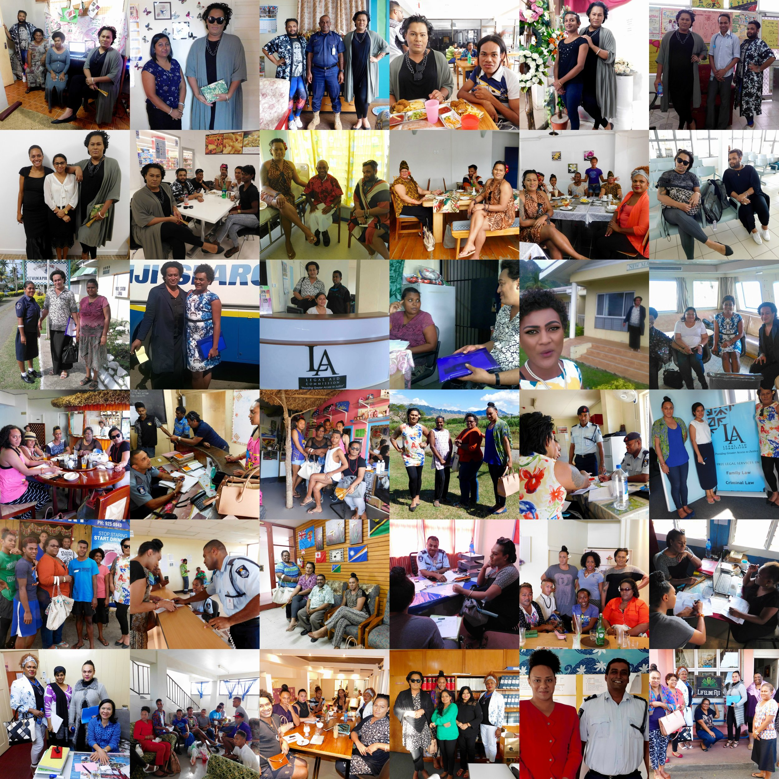 Haus of Khameleon has successfully conducted its scoping research exercise in four main divisions as follows: Northern Division (Labasa & Savusavu), Western Division (Sigatoka, Nadi, Lautoka, Ba, Rakiraki, Tavua), Eastern Division (Levuka), Central Division (Navua, Lami-Suva-Nausori Corridor).The main aim of the scoping visit was to establish needed information regarding the research including research logistics, the size of the local TG-women population, venues for the Focus Group Discussions (FGDs), catering for the 10 FGD participants, security assessments of each sites, contact of key informant interviewees (service providers)and others.
