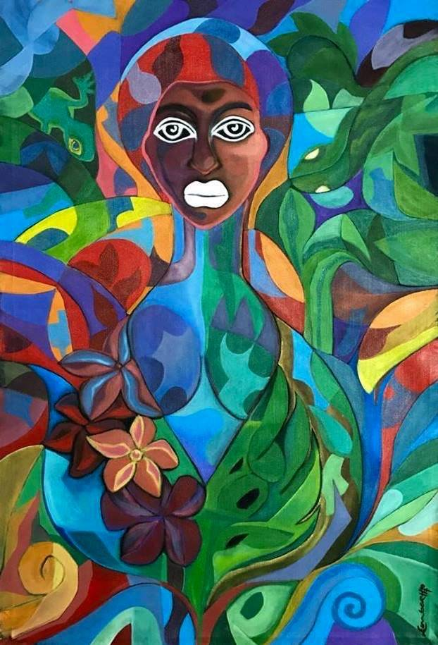 """Woman"" painting by Fiji-based Artist Lambert Ho"