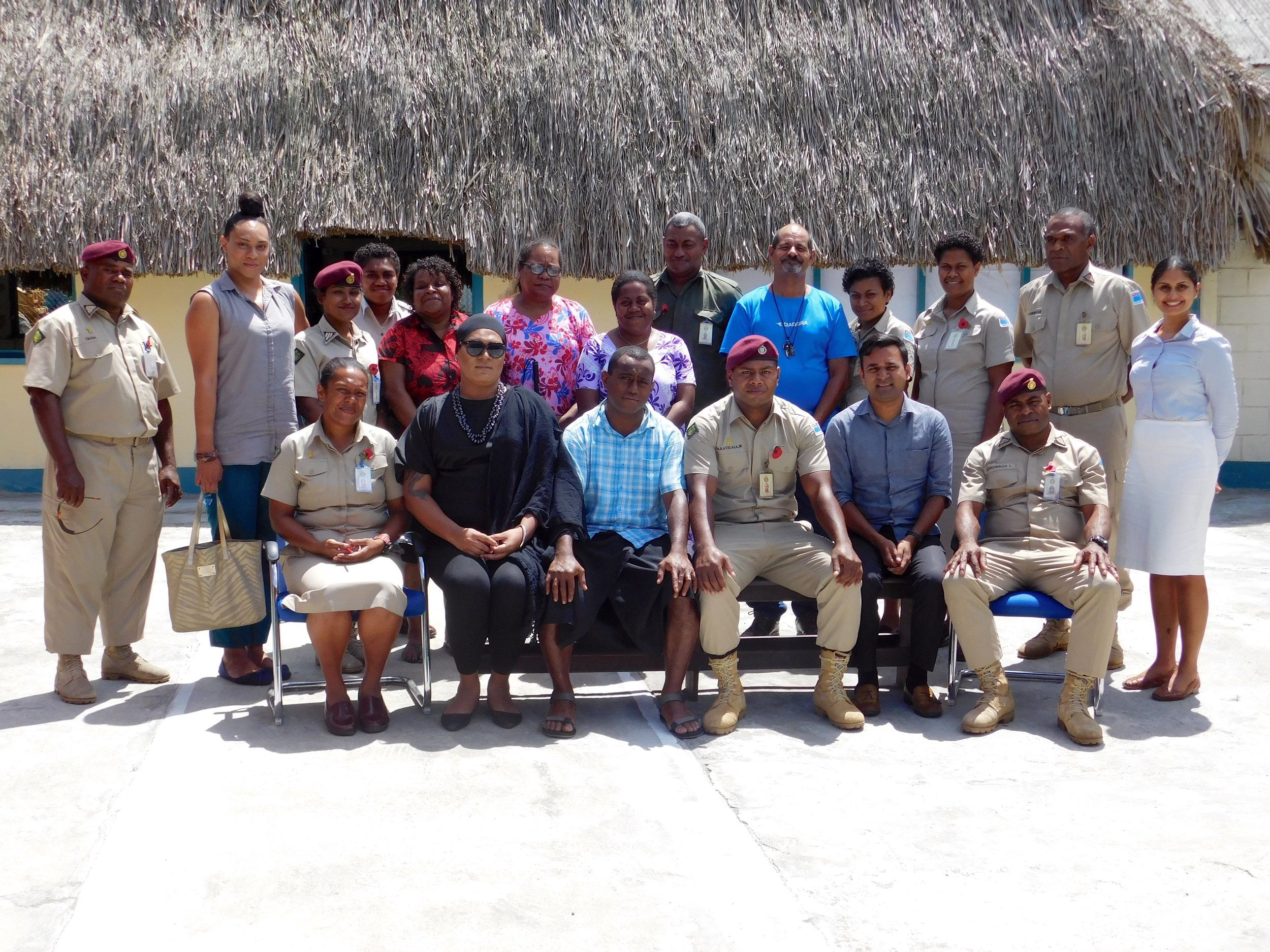 Photo: Participants and Facilitators at the OHCHR Training Course on Human Rights and Prisons. 16th-17th October 2017, Korovou Prison Complex, Fiji