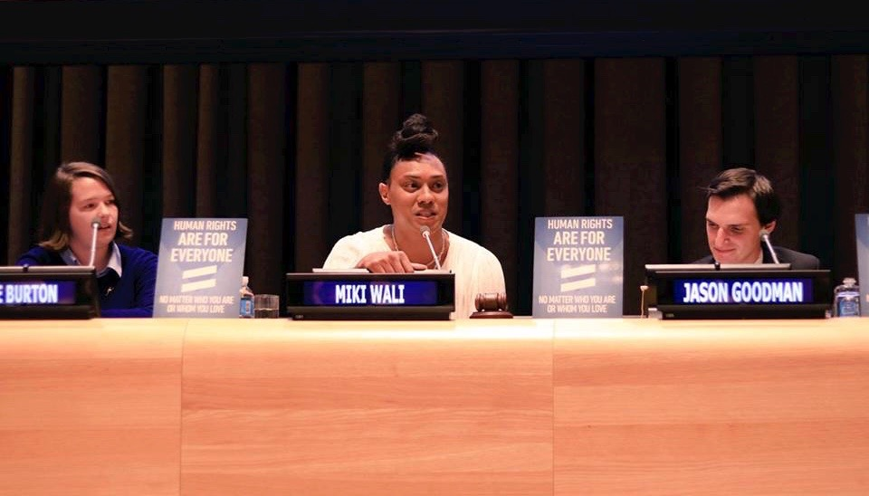 Miki Wali of the Haus of Khameleon speaking at the United Nations LGBT Core Group Special Event: Standing Up For LGBTI Youth - Click here for the full length Youtube Video