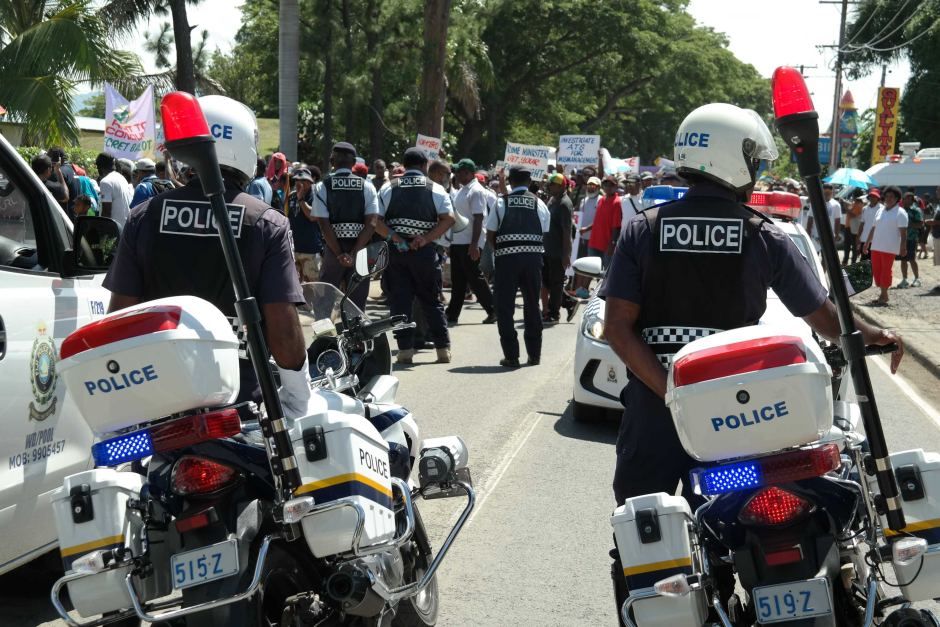 Around 200 police officers were called in to monitor the demonstration.