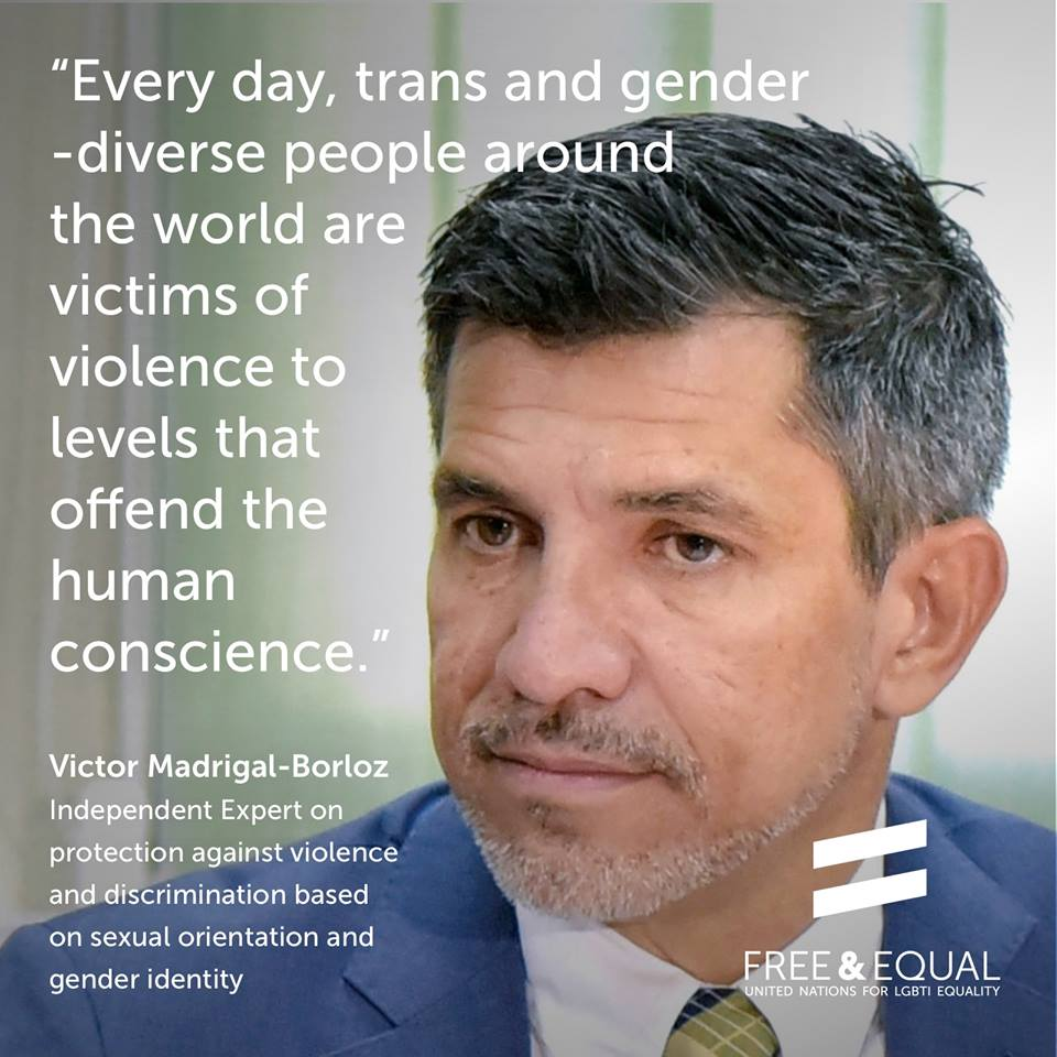 UN Independent Expert on Sexual Orientation and Gender Identity.