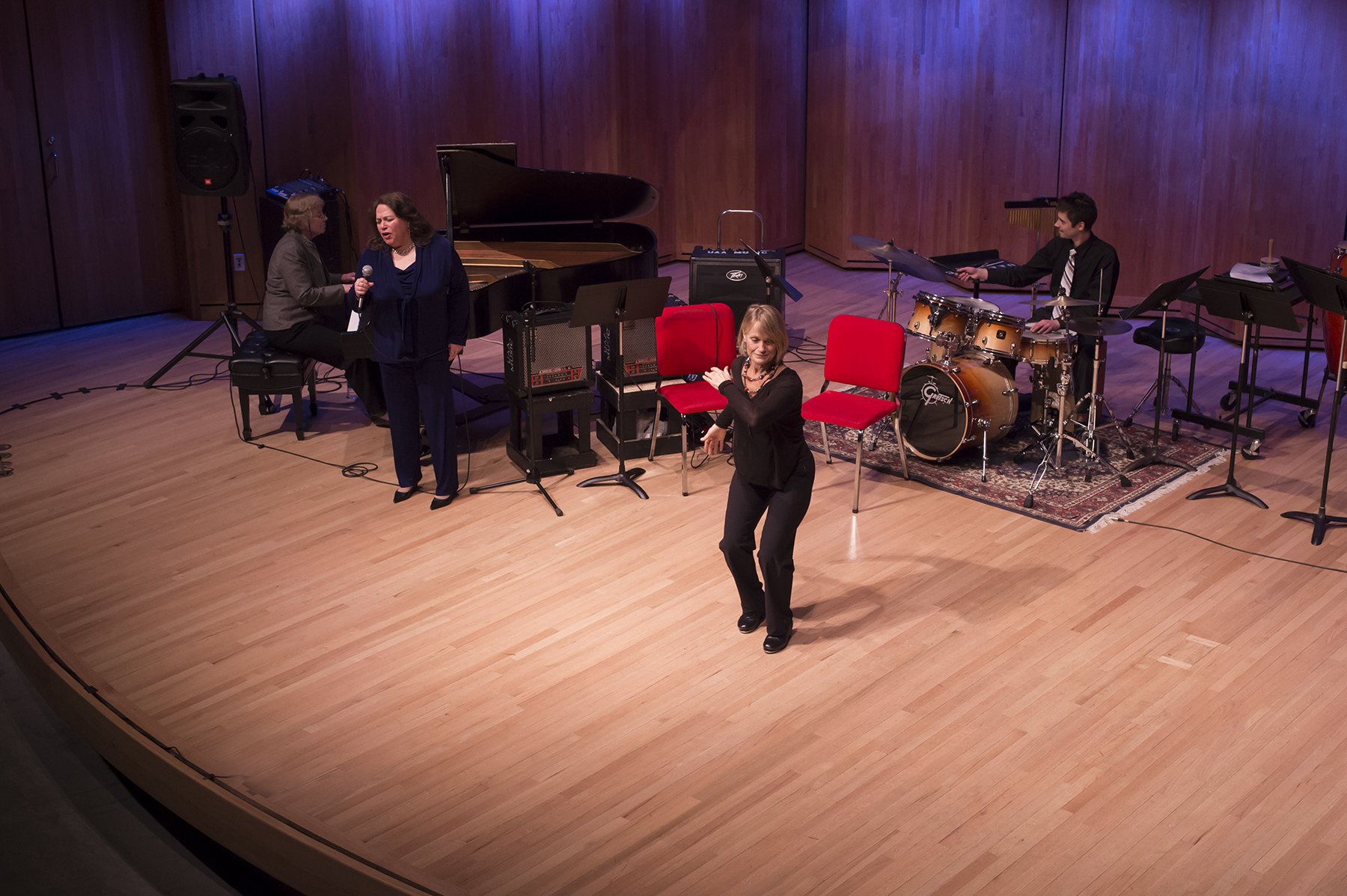 Jazz week with Karen Strid and Brenda Hune  University of alaska in anchorage, 2016