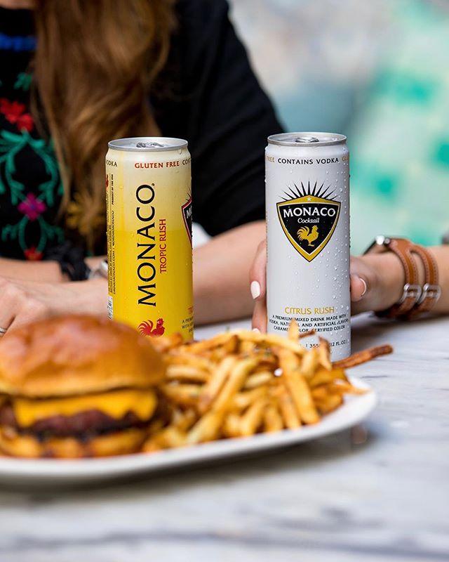 Perfect Combination 🍟🍹🍔 #sundayfunday #drinkmonaco