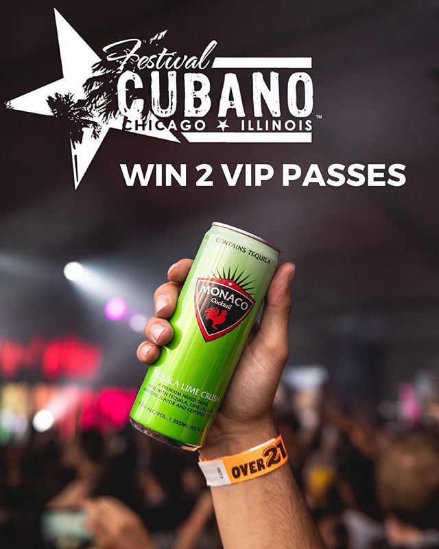 We're giving away a pair of 3-day VIP passes to Festival Cubano 🇨🇺 TO ENTER- 1) Like this photo 2) Follow @drinkmonaco 3) Tag 3 of your friends in the comments #drinkmonaco