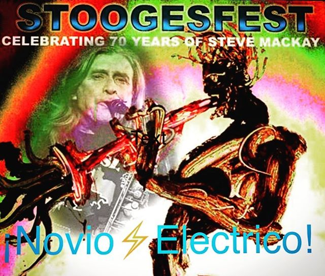 Novio⚡️Electrico - Celebrating our friend Steve at Winters Tavern this evening ~9pm Honored to have worked with him a few times in the studio. #stooges #stevemackay