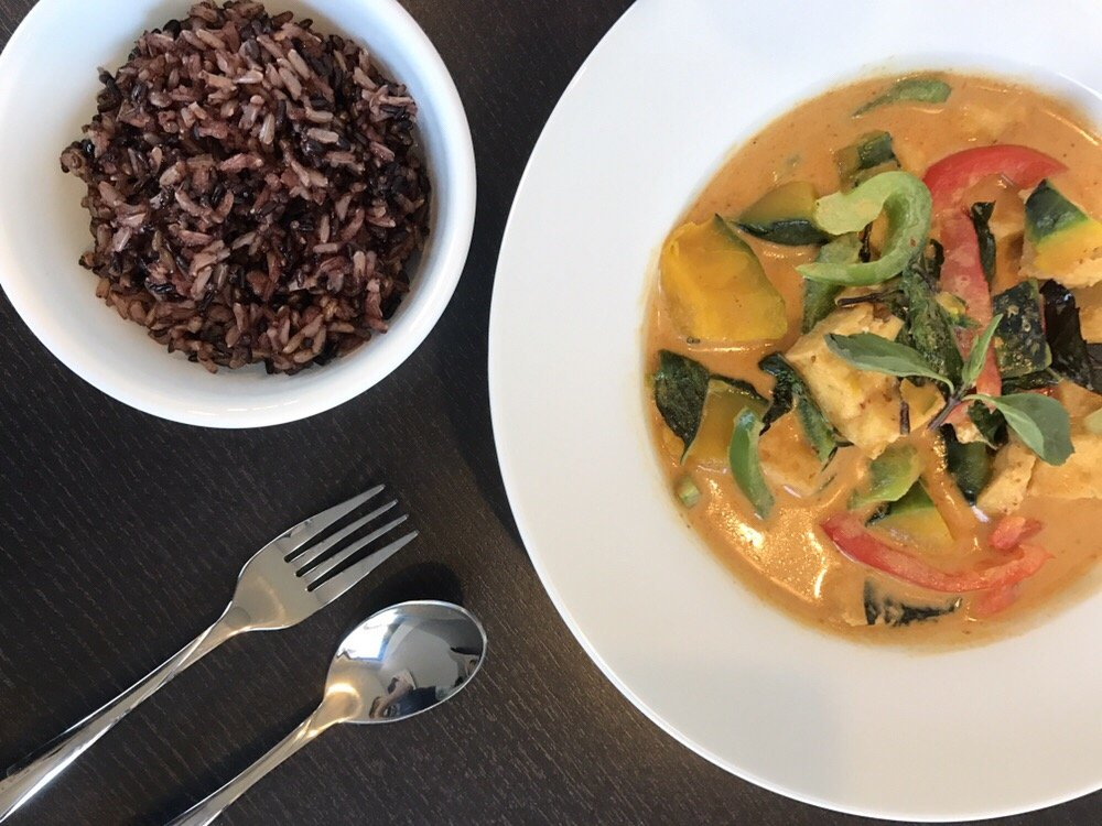 Pumpkin Curry Tofu w/ Brown Rice