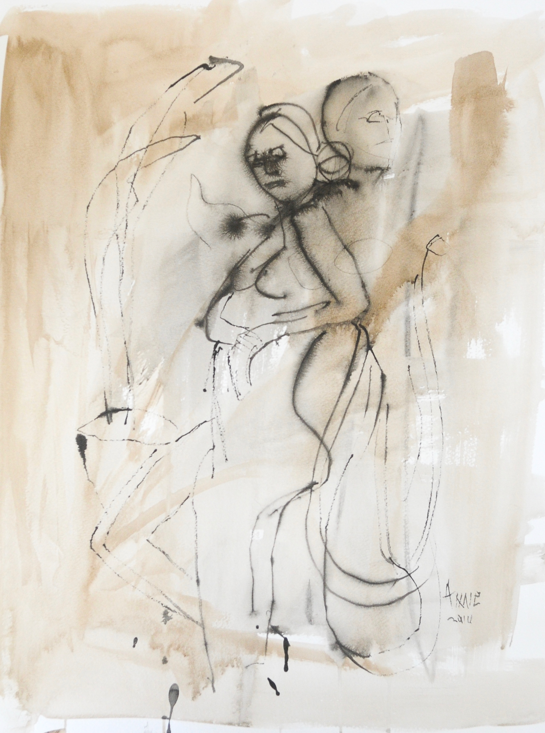 """Two Figures in Ink 