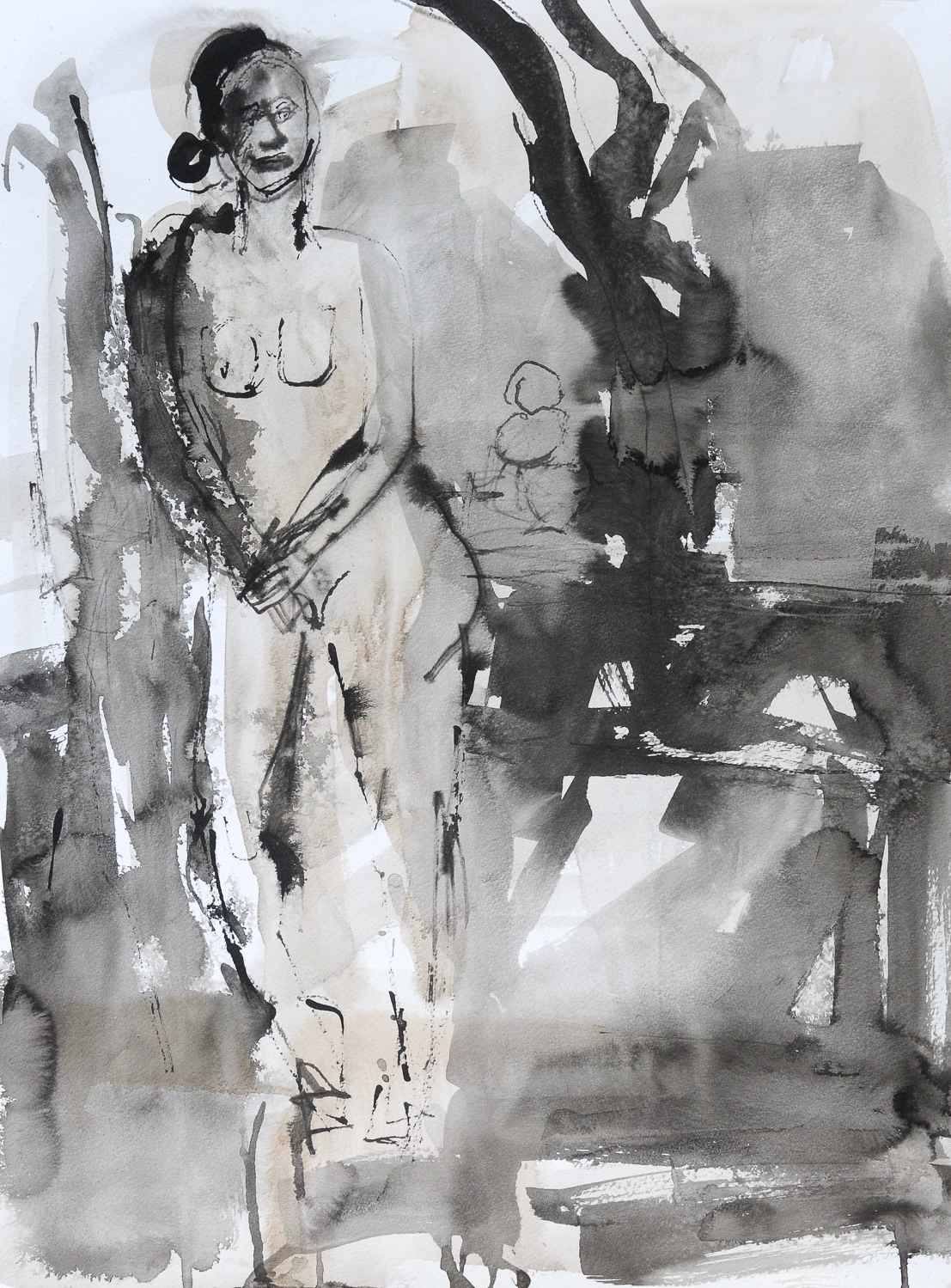 """Leaning Lady 