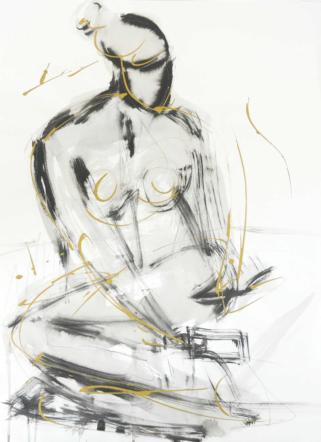 """Figure In Black & Gold 