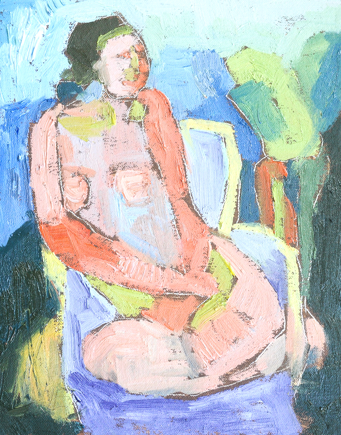Seated Figure | Oil on Canvas