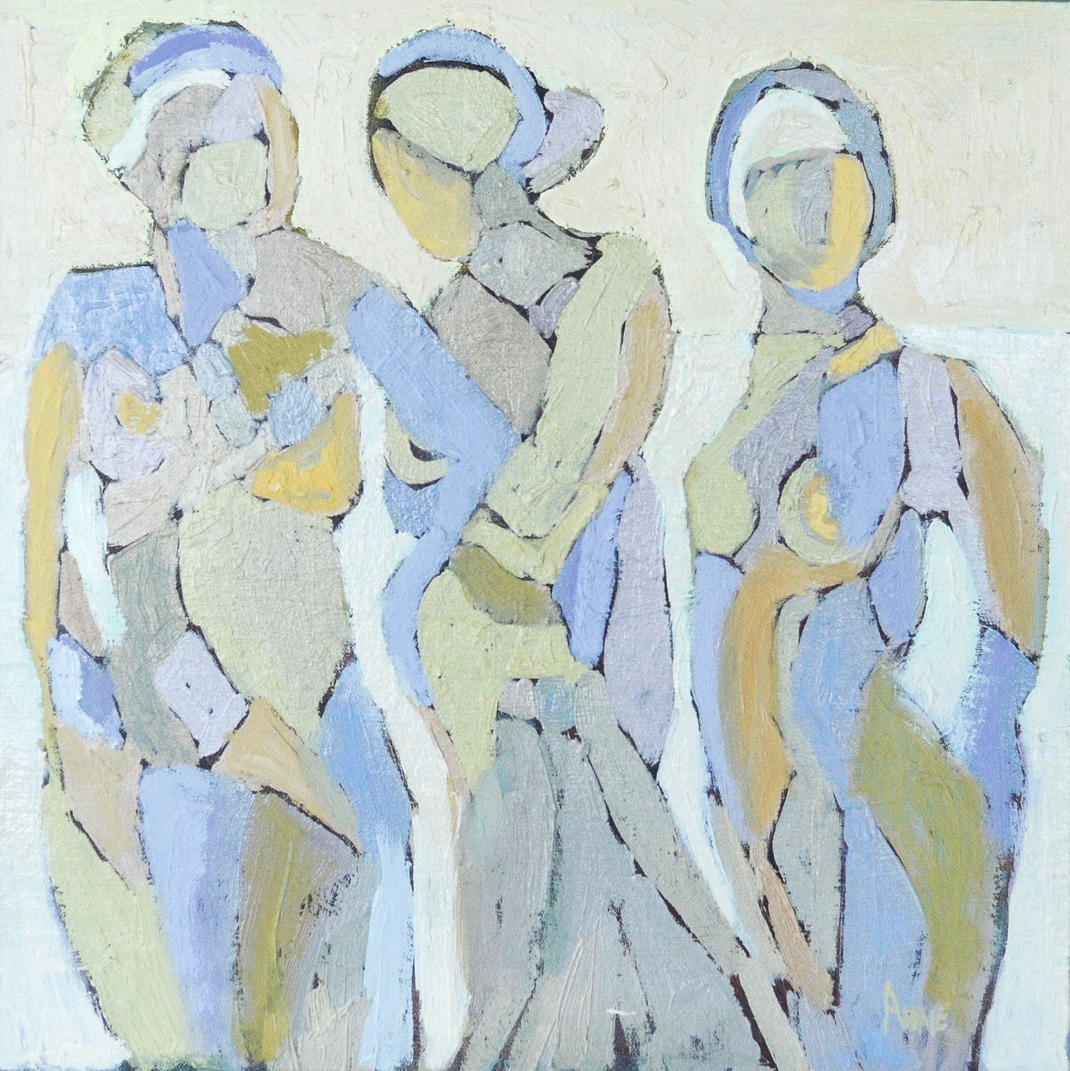 Untitled Figures | Oil on Canvas | 24 x 24""