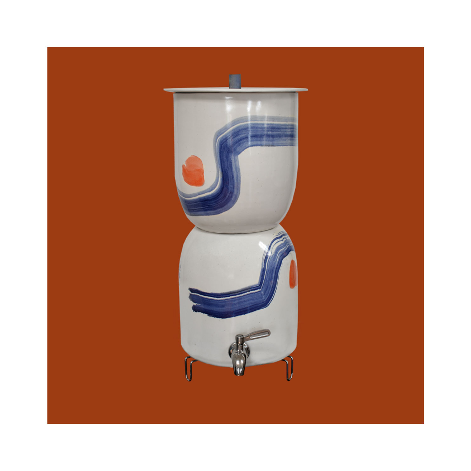 PAINTED WATER FILTER BY WALTER