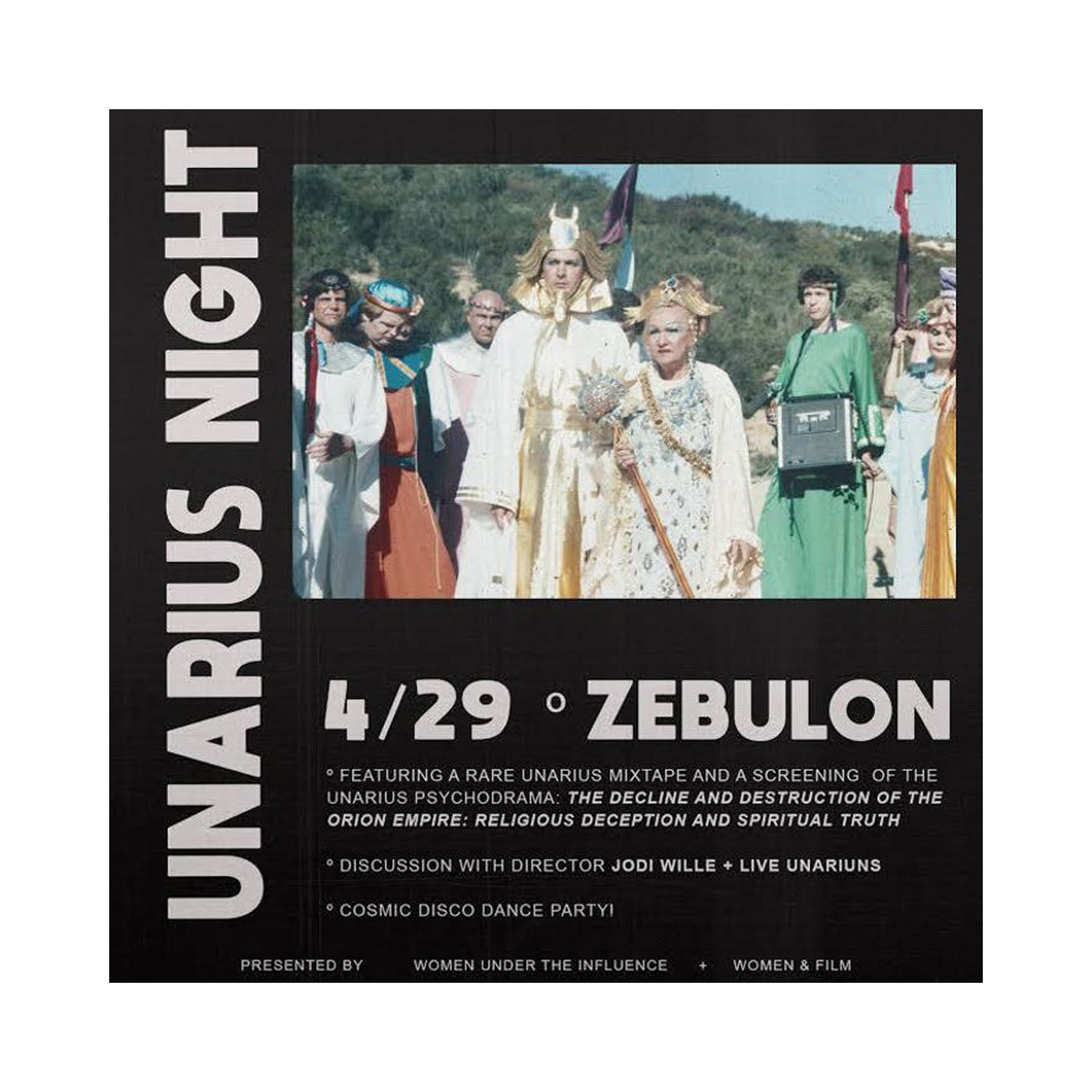 UNARIUS NIGHT! BY WOMEN AND FILM