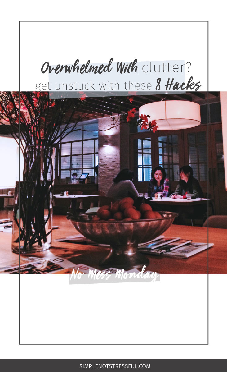 You want a space that feels right, but you dread going through all your stuff. Click through for 8 hacks you've probably never heard of before. Let's get you out of the overwhelm & on your way to a tidy home!