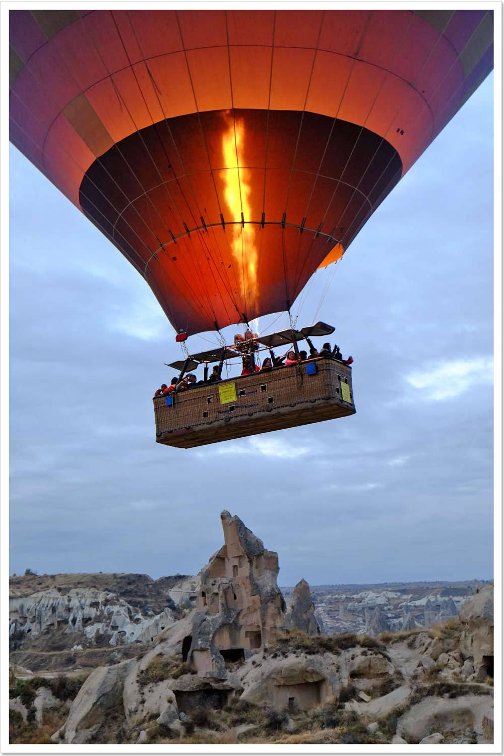 I rode a hot air balloon in Turkey.
