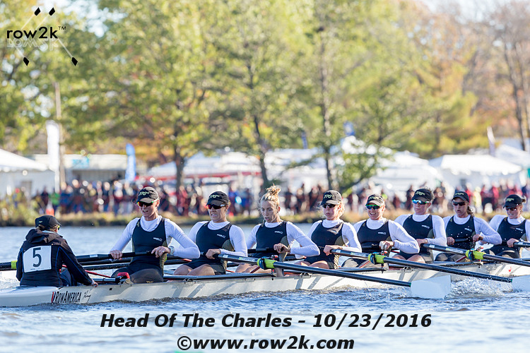 Super Sweeper 8+ at the 2016 Head of the Charles where they earned silver in the Women's Championship 8+ event. all eight women in this lineup raced in the 2016 rio olympics.