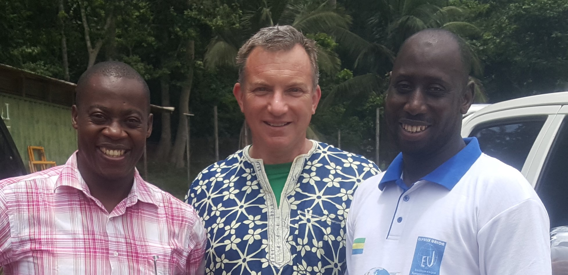 (With friends Dr. Simplice (Gabon) and Bakary (Mali))