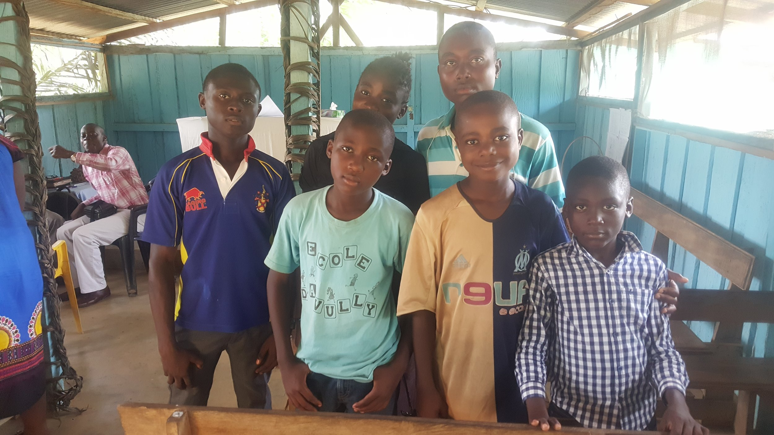 Kids from the village church in Lebamba