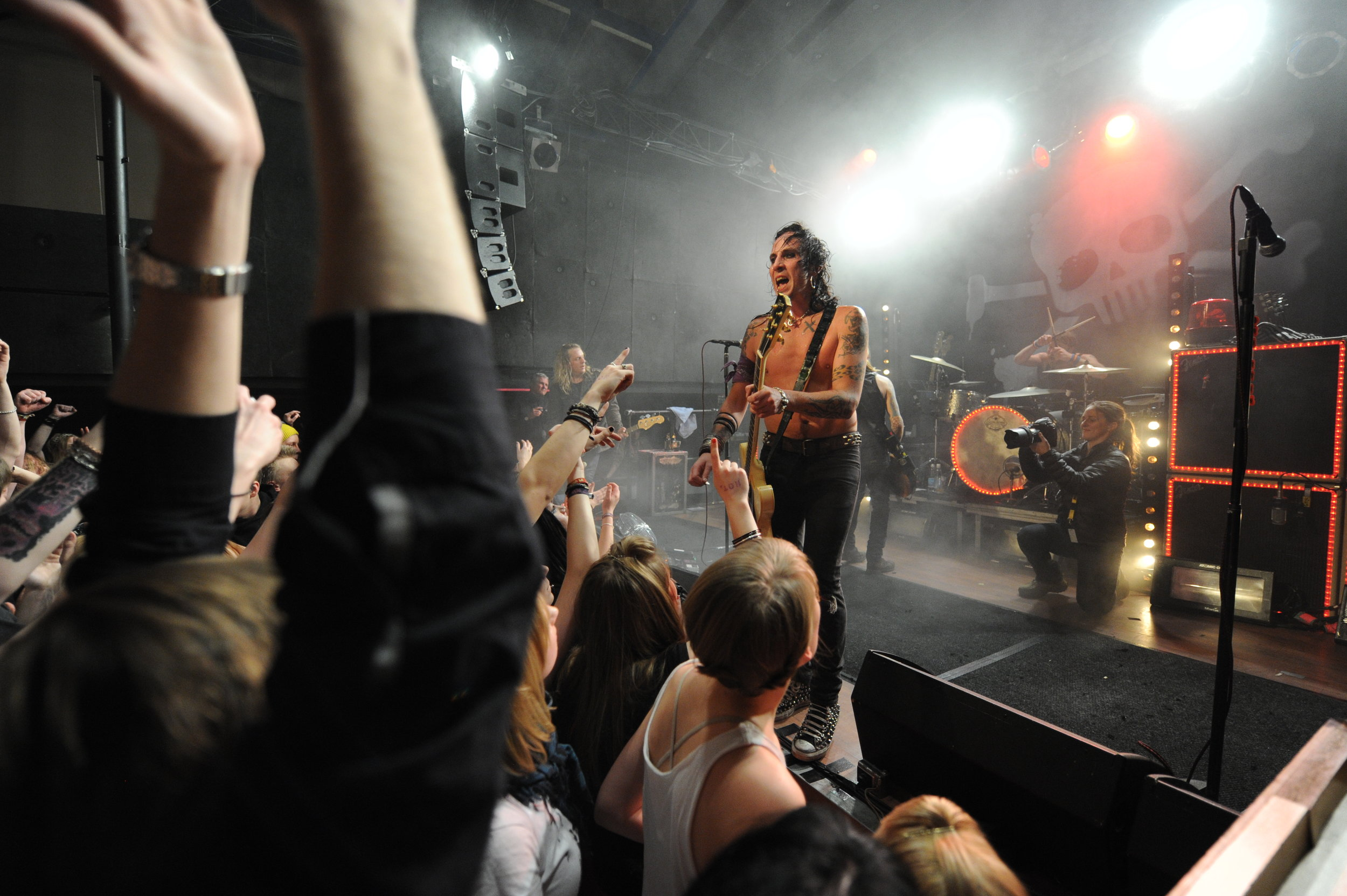 Onstage with the Backyard Babies in Turku, Finland.