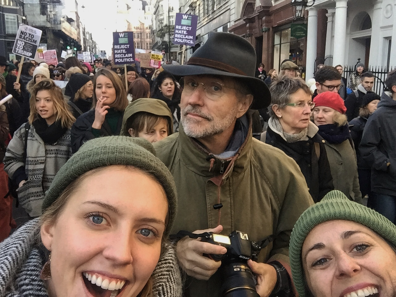 @LittleLauraHeald with Jen and Bill at London's Women's March.