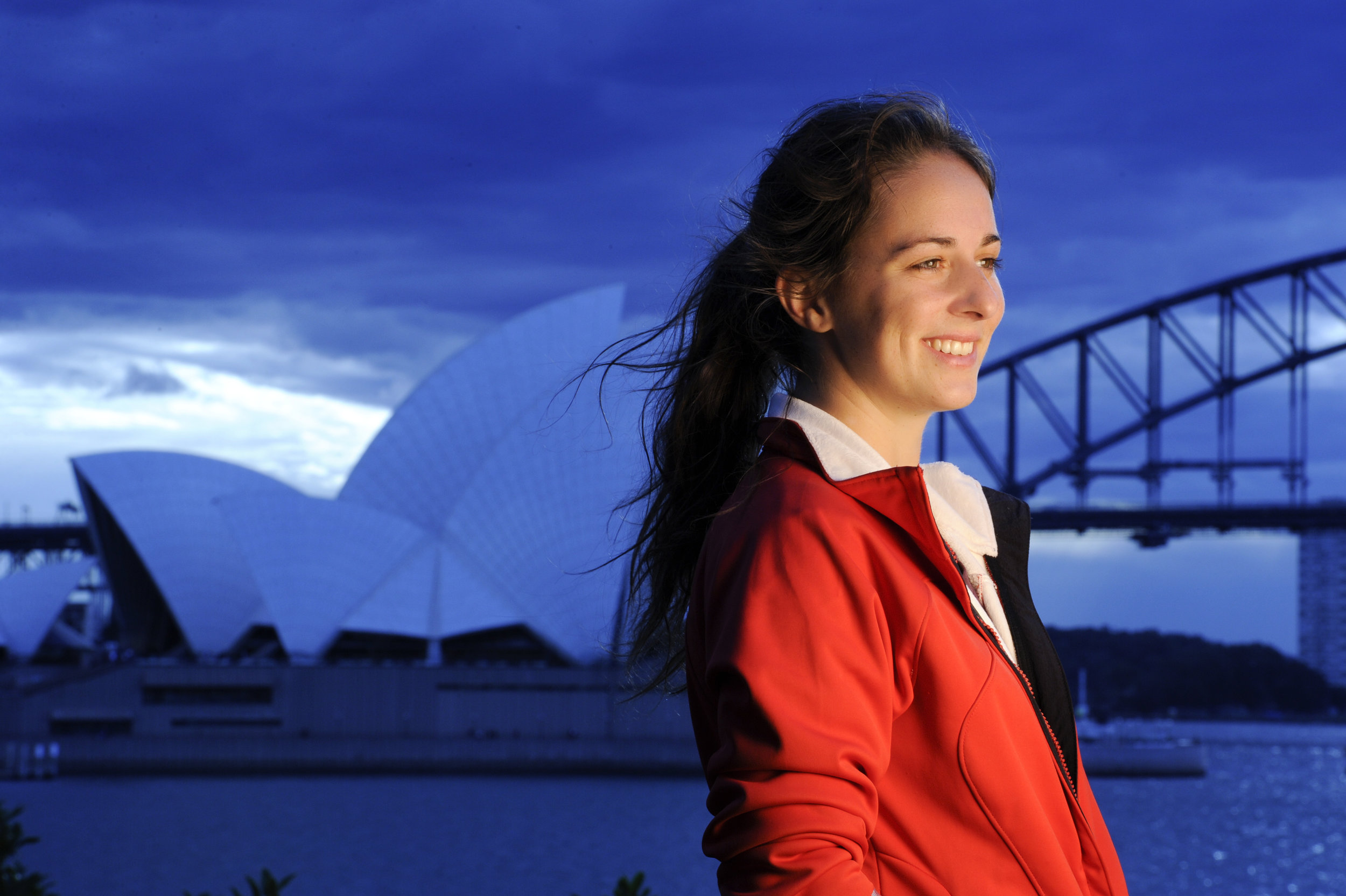 A test portrait in front of the Sydney Opera House in July of 2009.