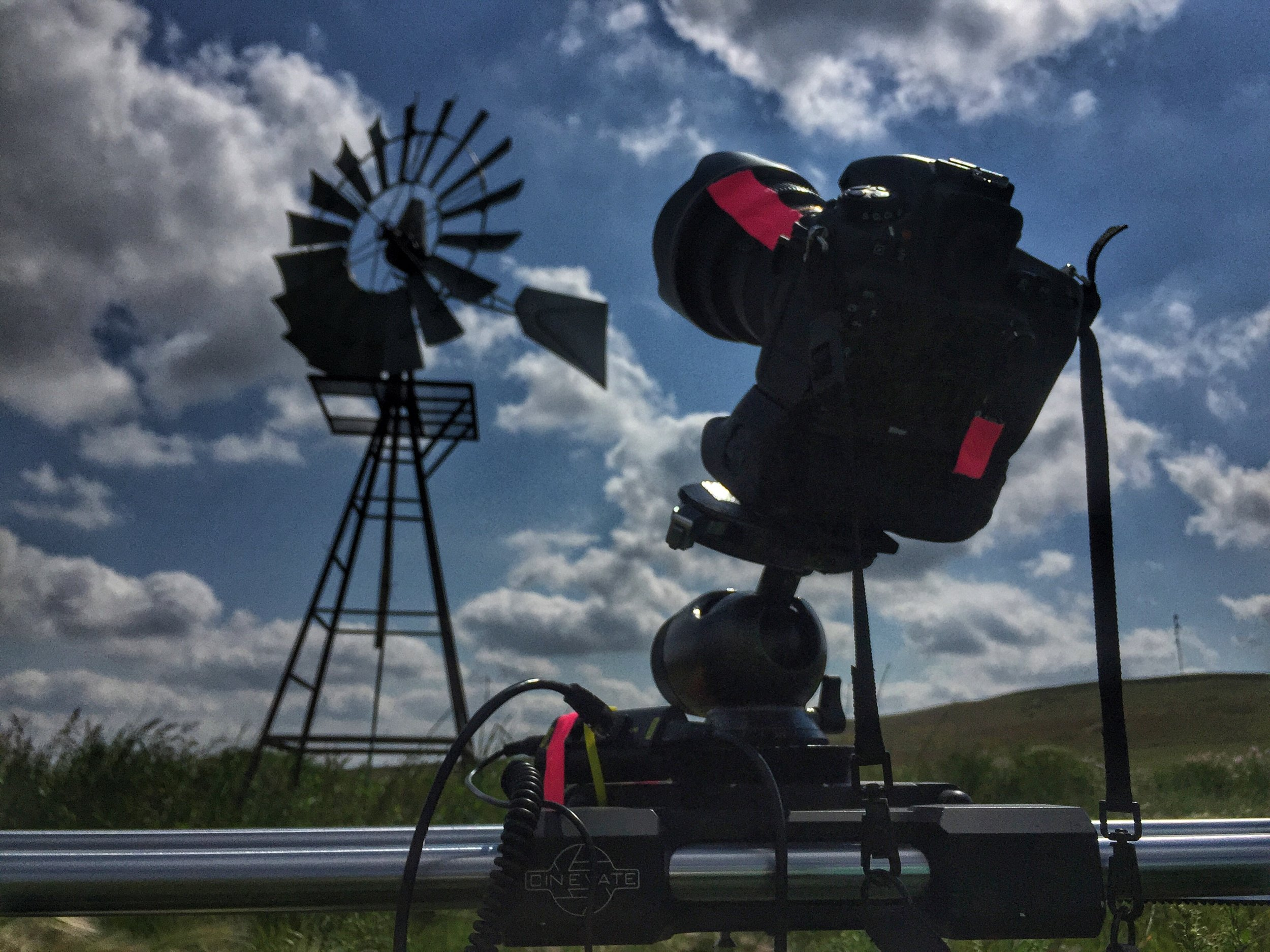 Our favorite piece of timel-apase equipment - the Cinevate motion-control sytem on their Atlas 200 slider. It's the most solid motion-control equipment available.