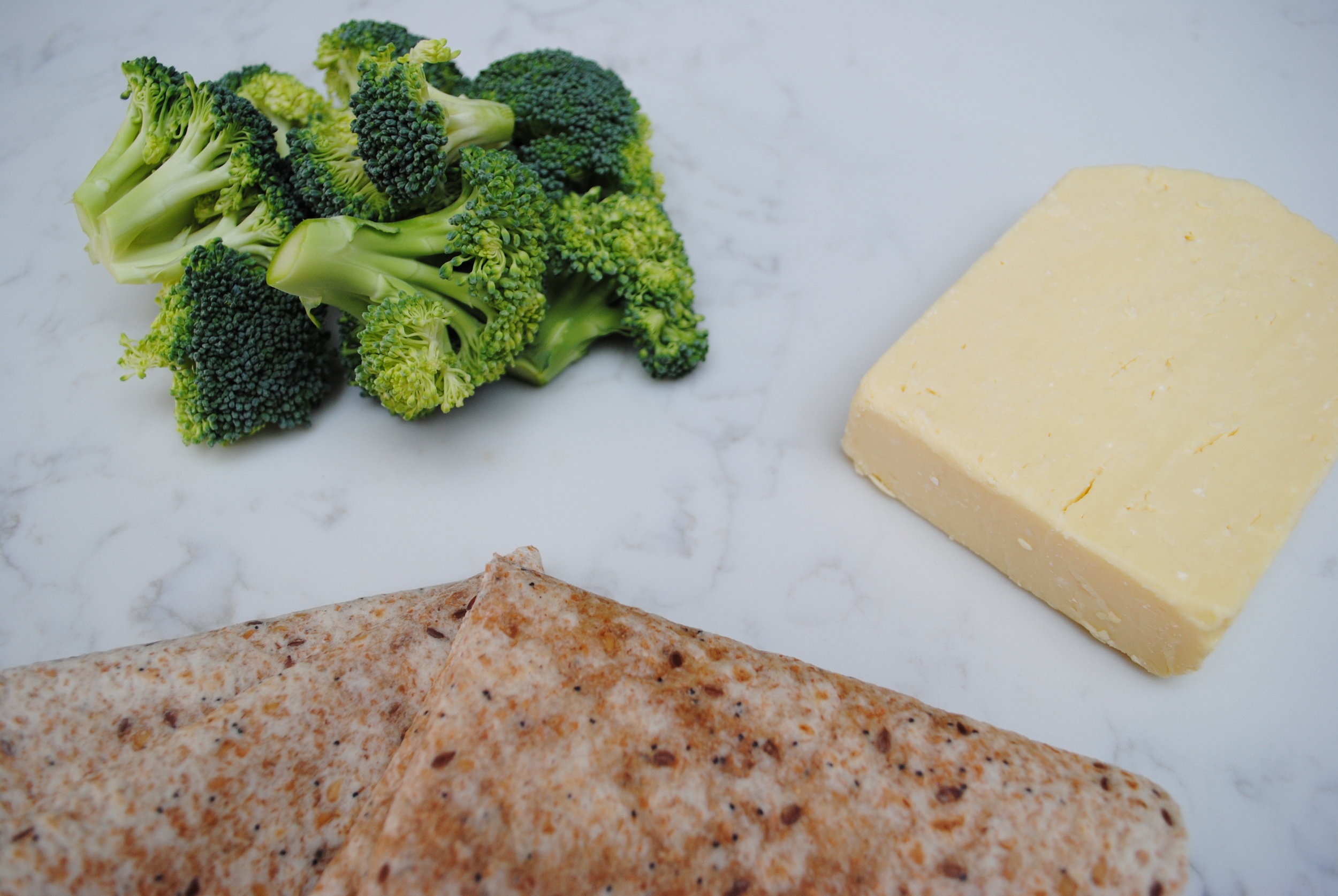 What you need: wraps, broccoli, cheese