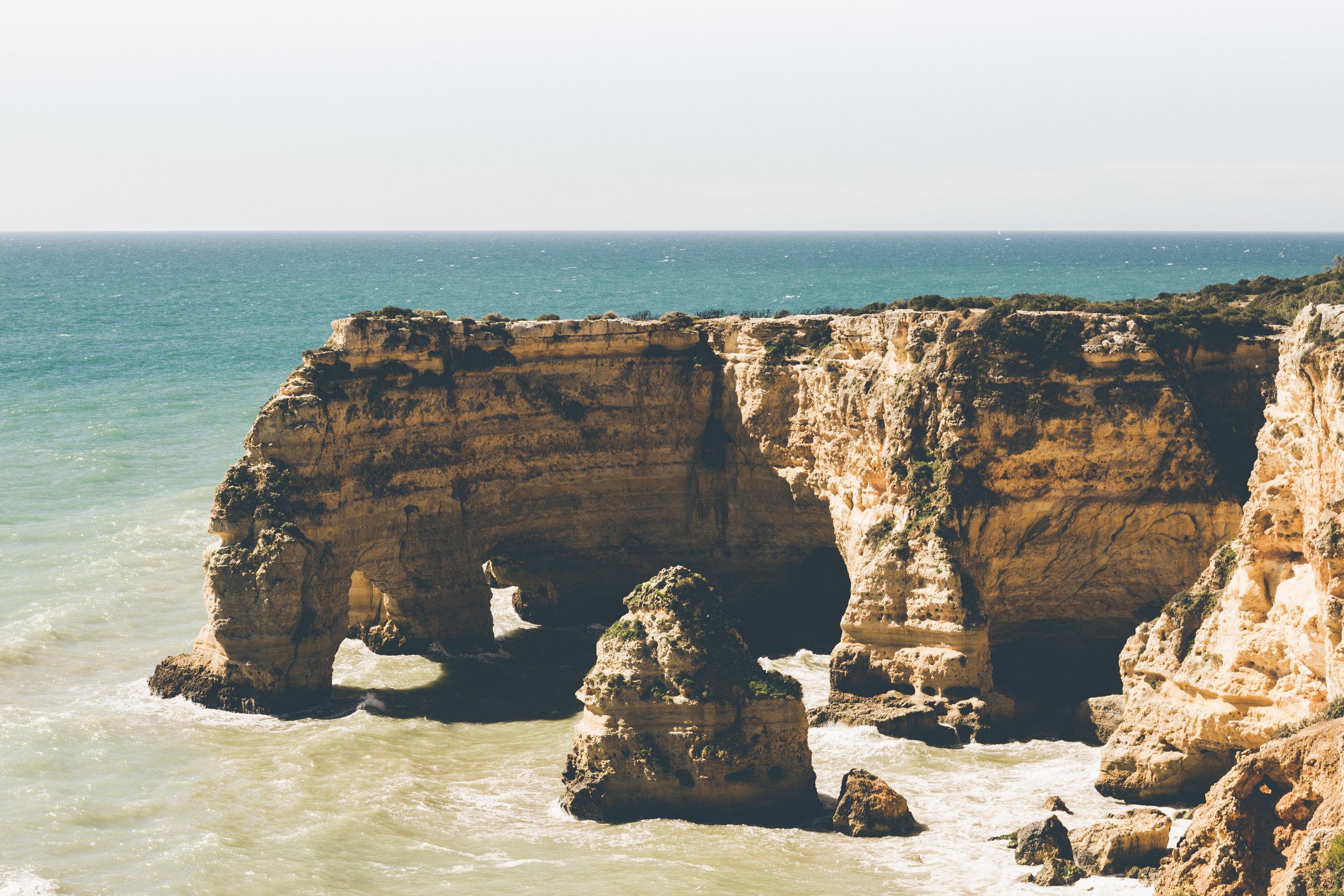 Rocky cliffs, Praia de Marinha