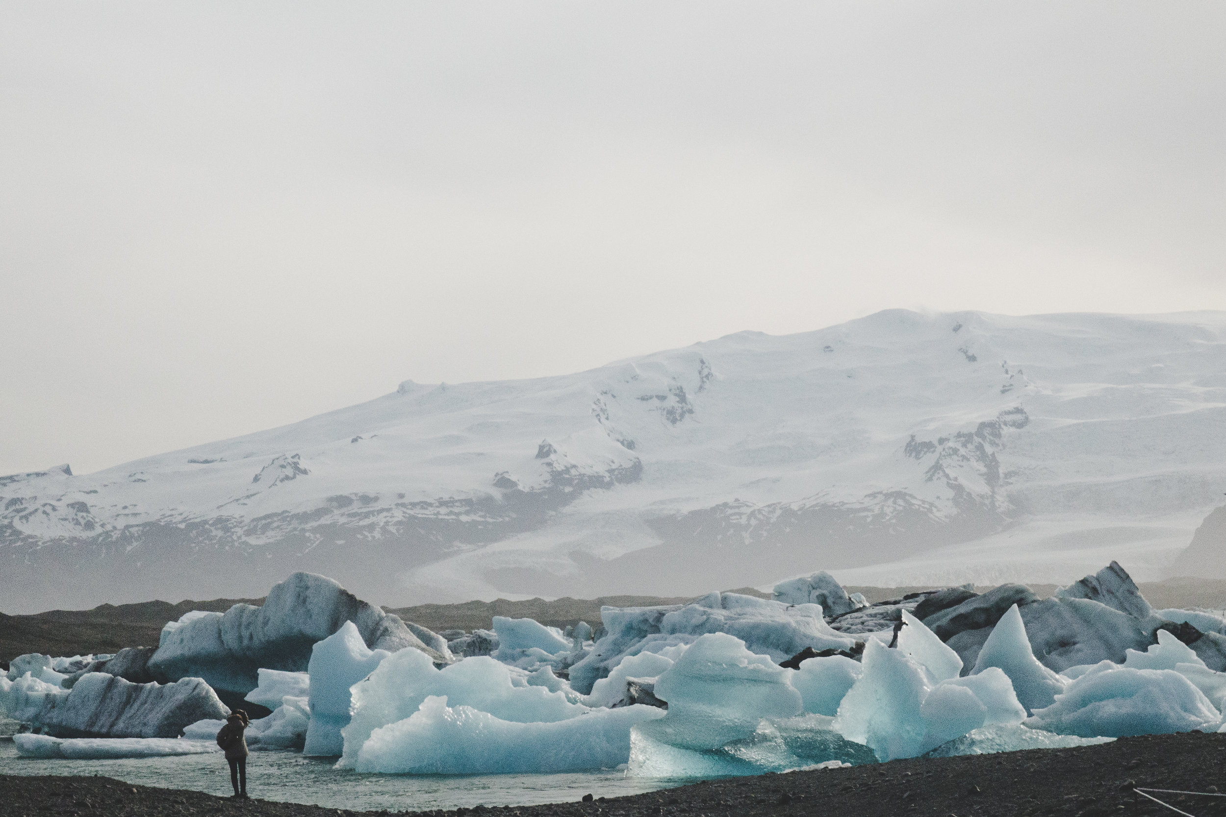 Jökulsárlón with the Breiðamerkurjökull glacier in background