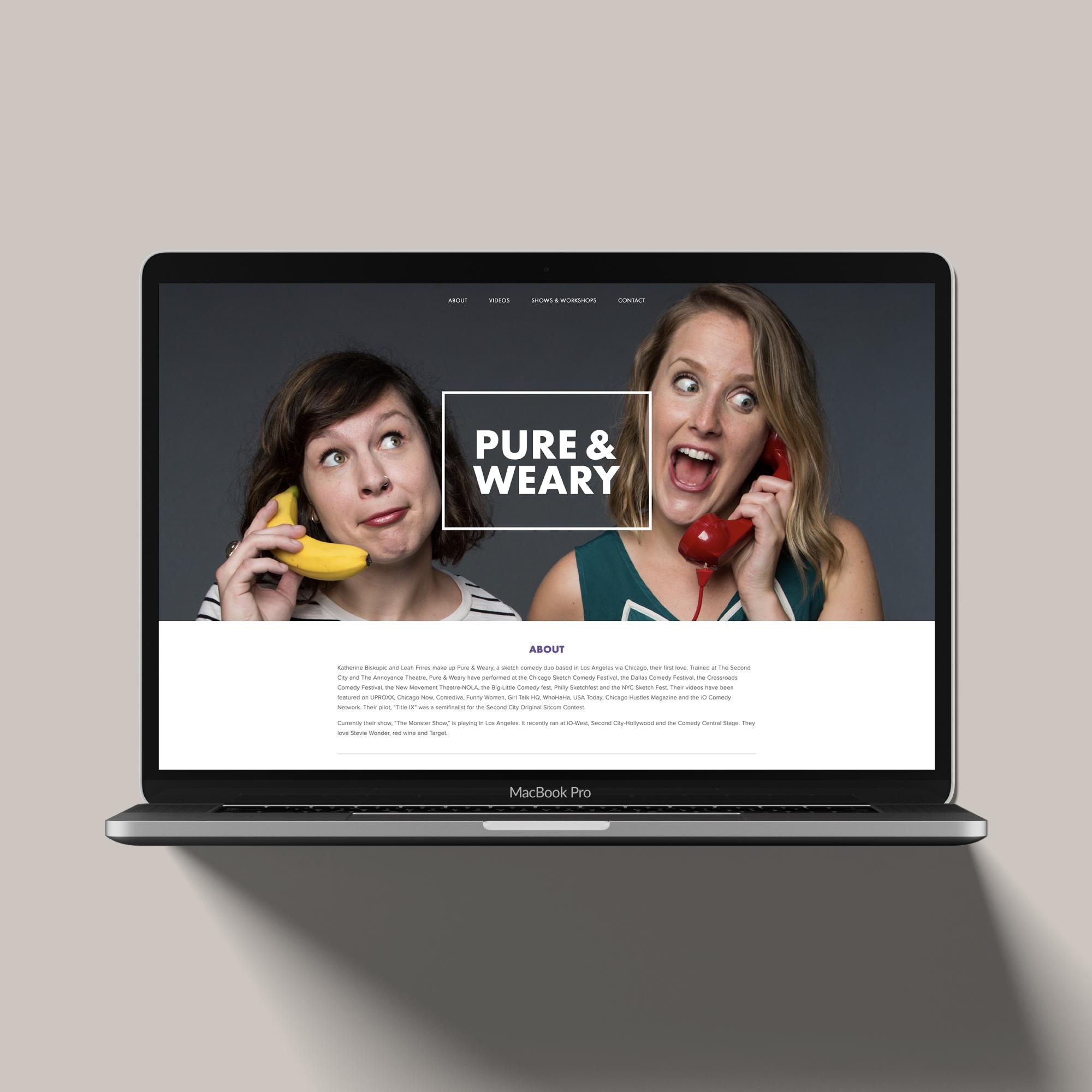Pure & Weary | Branding + Web + Print