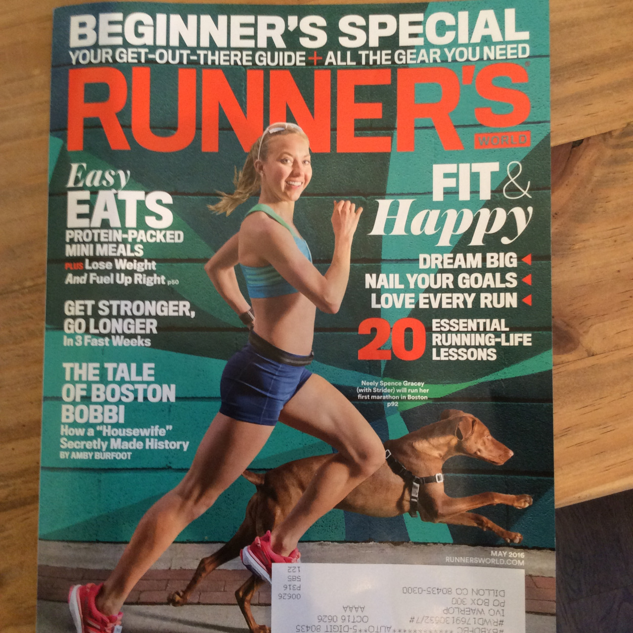 What's wrong with this picture? (Besides the fact that you probably shouldn't run with your dog on asphalt)    There's been a lot of incongruency in the media as of late. This particular gal, with your head rotation to the right is going against the harmony of neurology and physiology. Let me explain…   This particular gal, with her rotated to the right is going against the way the nervous system is designed to work.  In a post  in the last week or so (the massage cream one and  incongruent movement) we talked about tonic neck responses. When the head is rotated to one side, that upper and lower extremity should extend while the contralateral side should flex. This poor gal is fighting her own neurology!     Also note that she really doesn't have that much hip extension on the right and increases her lumbar lordosis to compensate. Gee whizz. You'd a thought they would have done better…   So much for the photo op : -)