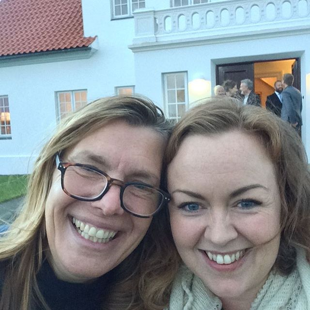 Asta og Camilla på besøg hos Islands præsident.
