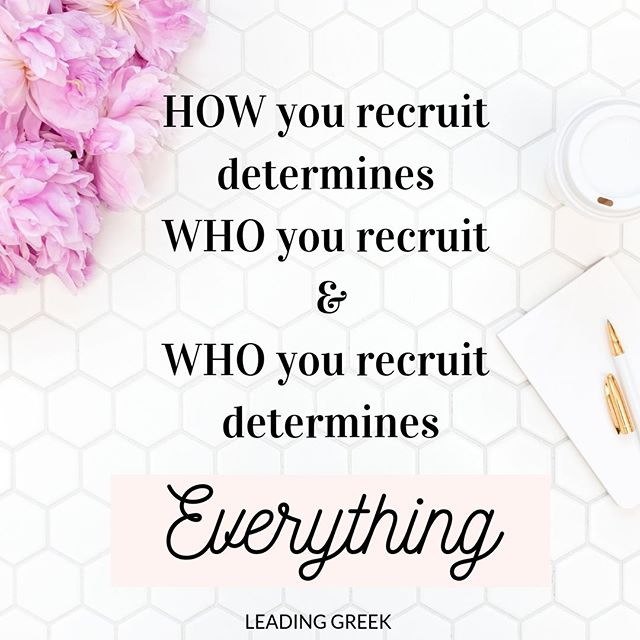 Sorority recruitment is more than fun videos and glitter. It has enormous impact on our membership and chapter health. Is your chapter intentionally recruiting with this in mind?⠀ ⠀ Learn more in our latest episode of @leadinggreekpod in your favorite podcast app or link in bio 🎧⠀ ⠀ #sorority #highered #genz #recruitment