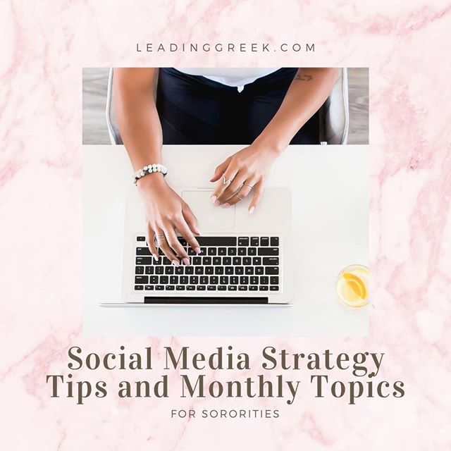 We all know that social media is important, but what should you post about, where, and how often? Social media is a vital part of your chapter's public relations strategy, and you need to make a plan so you can post consistently and showcase your chapter accurately. Find social media strategy tips and monthly topics on our website at LeadingGreek.com.⠀ ⠀ Our first podcast episode Social Media Strategies for Sororities: Using Storytelling to Enhance Your Brand is also available in your favorite podcast app or link in bio.⠀ ⠀ #sorority #sororitypodcast