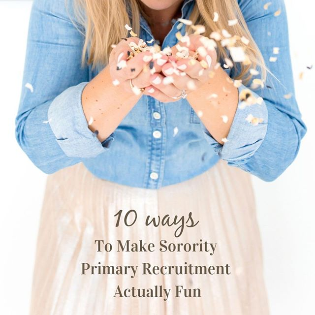 Summer is all about prep for sorority recruitment. While you're getting ready, make sure to plan fun activities to motivate your members and survive the sorority boot camp that is primary recruitment.⠀ ⠀ Check out our ideas on LeadingGreek.com. How does your chapter keep primary recruitment fun? ⠀ ⠀ #sorority #sororitypodcast
