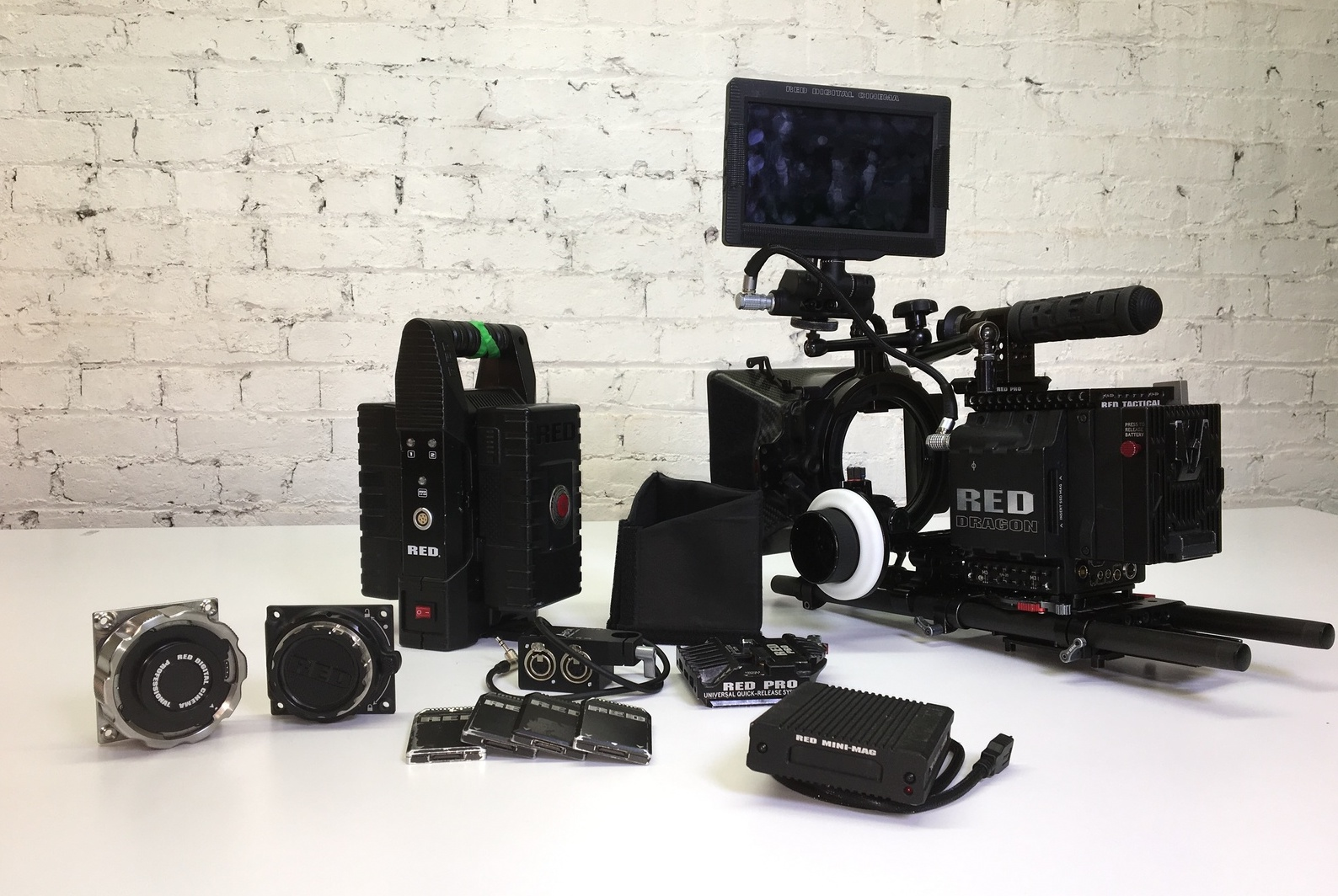 RED EPIC - Used in feature films, RED is the leading manufacturer of professional digital cinema cameras. Used on such films as Jurassic World, Transformers, Gone Girl, and The Great Gatsby