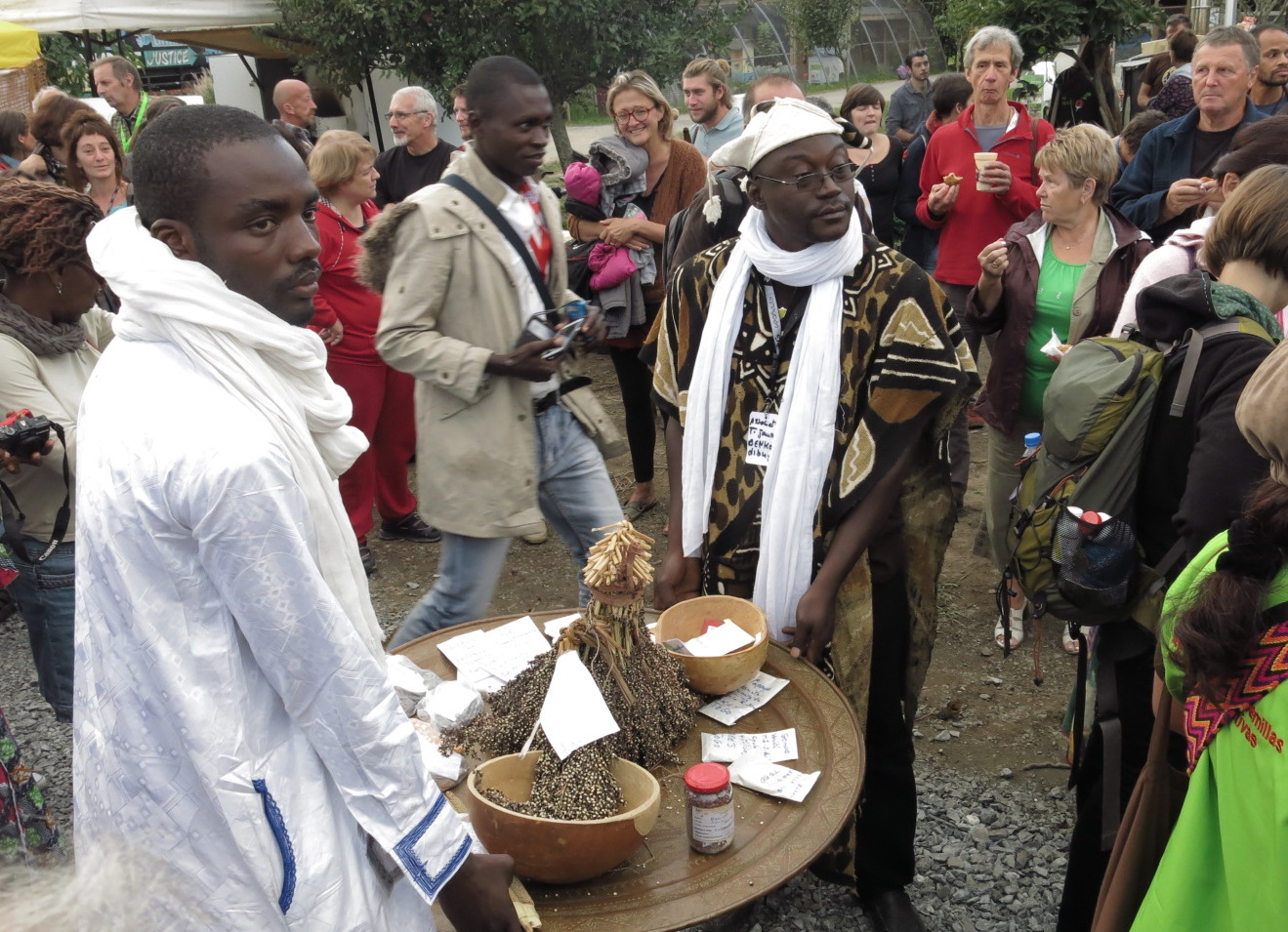 """international festival """"sow your resistance: farmers' seeds to feed people"""" in France, September 2015. Photo credit: BEDE, France."""