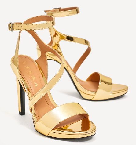 METALLIC HIGH HEEL SANDALS  $29.99